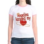 Angelina Lassoed My Heart Jr. Ringer T-Shirt