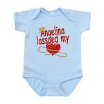 Angelina Lassoed My Heart Infant Bodysuit