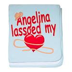 Angelina Lassoed My Heart baby blanket