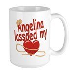 Angelina Lassoed My Heart Large Mug