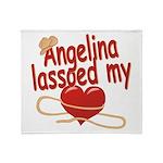 Angelina Lassoed My Heart Throw Blanket