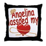 Angelina Lassoed My Heart Throw Pillow
