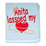 Anita Lassoed My Heart baby blanket