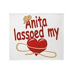 Anita Lassoed My Heart Throw Blanket