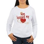 Ann Lassoed My Heart Women's Long Sleeve T-Shirt