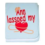 Ann Lassoed My Heart baby blanket