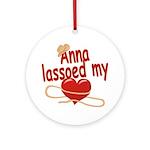 Anna Lassoed My Heart Ornament (Round)