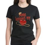 Anna Lassoed My Heart Women's Dark T-Shirt