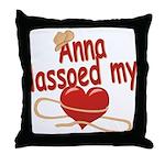 Anna Lassoed My Heart Throw Pillow