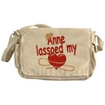 Anne Lassoed My Heart Messenger Bag