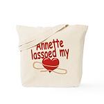 Annette Lassoed My Heart Tote Bag
