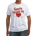 Annette Lassoed My Heart Fitted T-Shirt