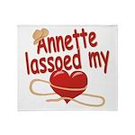 Annette Lassoed My Heart Throw Blanket