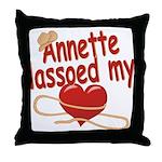 Annette Lassoed My Heart Throw Pillow