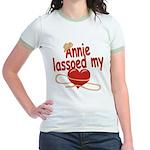 Annie Lassoed My Heart Jr. Ringer T-Shirt