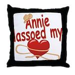 Annie Lassoed My Heart Throw Pillow