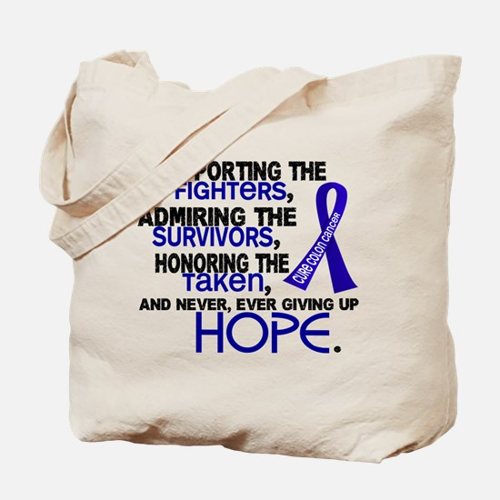© Supporting Admiring 3.2 Colon Cancer Shirts Tote