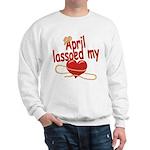 April Lassoed My Heart Sweatshirt