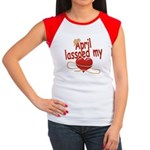 April Lassoed My Heart Women's Cap Sleeve T-Shirt