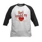 April Lassoed My Heart Kids Baseball Jersey