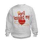 April Lassoed My Heart Kids Sweatshirt