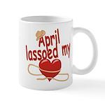 April Lassoed My Heart Mug