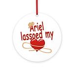 Ariel Lassoed My Heart Ornament (Round)