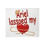 Ariel Lassoed My Heart Throw Blanket