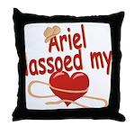 Ariel Lassoed My Heart Throw Pillow