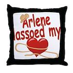 Arlene Lassoed My Heart Throw Pillow