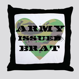Army Issued Brat Throw Pillow