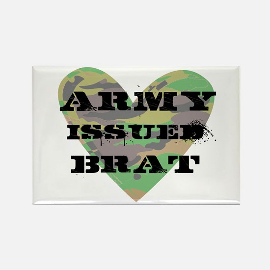 Army Issued Brat Rectangle Magnet