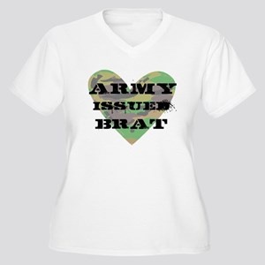 Army Issued Brat Women's Plus Size V-Neck T-Shirt