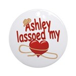 Ashley Lassoed My Heart Ornament (Round)