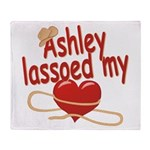 Ashley Lassoed My Heart Throw Blanket