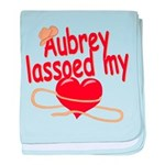 Aubrey Lassoed My Heart baby blanket