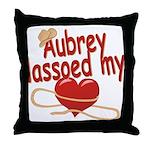 Aubrey Lassoed My Heart Throw Pillow