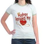 Audrey Lassoed My Heart Jr. Ringer T-Shirt