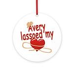 Avery Lassoed My Heart Ornament (Round)