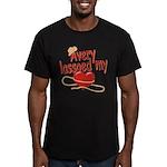 Avery Lassoed My Heart Men's Fitted T-Shirt (dark)