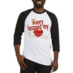 Avery Lassoed My Heart Baseball Jersey