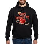 Avery Lassoed My Heart Hoodie (dark)