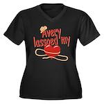 Avery Lassoed My Heart Women's Plus Size V-Neck Da