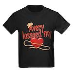 Avery Lassoed My Heart Kids Dark T-Shirt