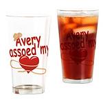 Avery Lassoed My Heart Drinking Glass