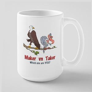 Maker vs Taker Large Mug
