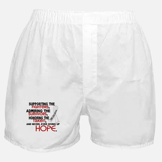 © Supporting Admiring 3.2 Lung Cancer Shirts Boxer