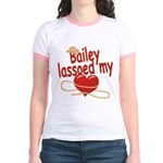 Bailey Lassoed My Heart Jr. Ringer T-Shirt