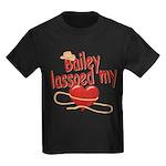 Bailey Lassoed My Heart Kids Dark T-Shirt