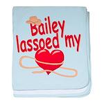 Bailey Lassoed My Heart baby blanket